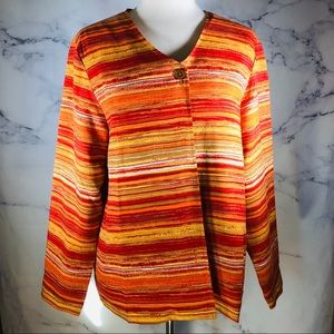 Coldwater Creek Cardigan Women's Size M Silk Shell